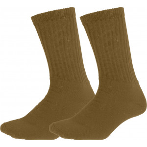 Coyote Brown Athletic Military Performance PT Crew Socks Pair USA Made