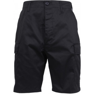 Black Combat Military Cargo BDU Shorts