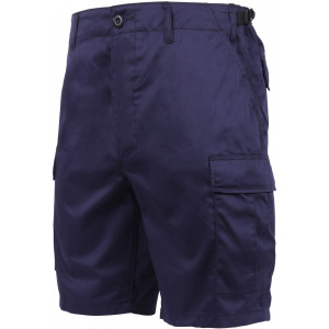 Navy Blue Cargo Military BDU Shorts
