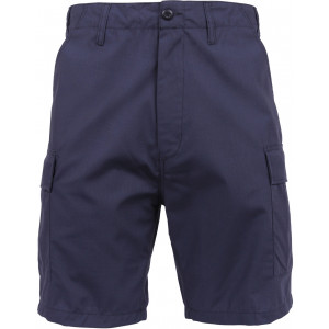Navy Blue Combat Military Rip-Stop BDU SWAT Cargo Shorts