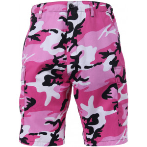 Pink Camouflage Combat Military Cargo BDU Shorts