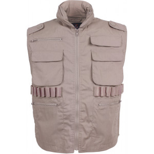 Khaki Military Tactical Hooded Ranger Vest