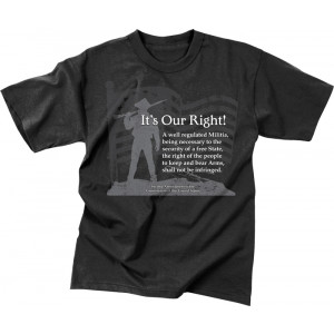 Black Military Vintage T-Shirt Design It's Our Right Short Sleeve T-Shirt