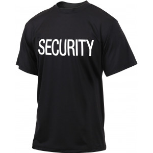 Black Quick Dry Moisture Wicking Security Performance T-Shirt
