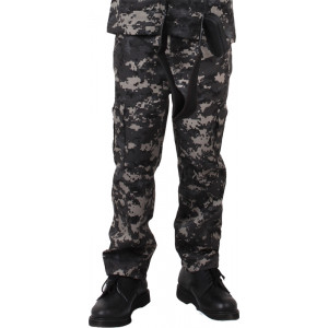 Subdued Urban Digital Camouflage Kids Military BDU Pants