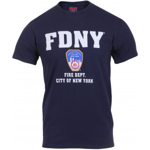 Navy Blue Official FDNY New York City Fire Department T-Shirt