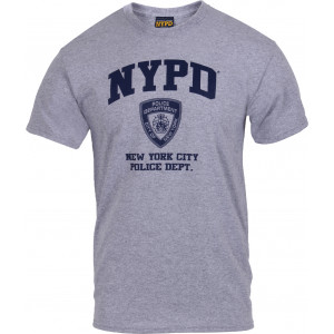 Grey Official NYPD Physical Training Workout T-Shirt