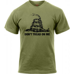 Olive Drab Don't Tread On Me Gadsen Snake Vintage T-Shirt