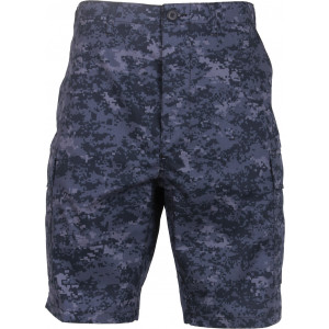 Midnight Digital Camouflage Combat Military Cargo BDU Shorts