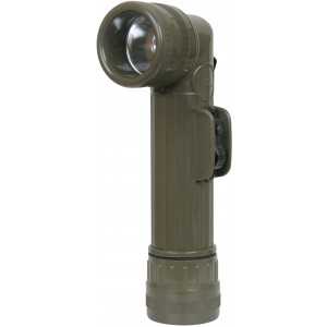 Olive Drab D-Cell Genuine GI Anglehead Military Tactical Flashlight USA Made