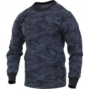 Midnight Digital Camouflage Long Sleeve T-Shirt