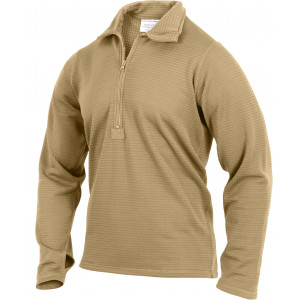 Coyote Brown AR 670-1 Military Generation III Level II Mid-Weight Thermal Shirt