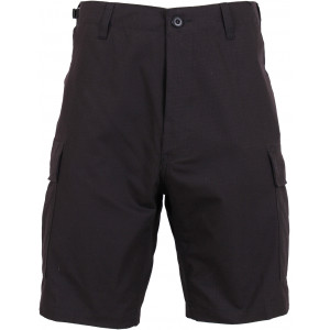 Black Rip-Stop Combat Military Cargo BDU Shorts