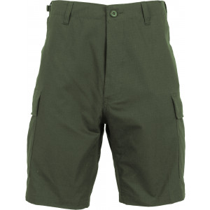 Olive Drab Rip-Stop Combat Military Cargo BDU Shorts