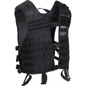 Black Military MOLLE Adjustable Lightweight Mesh Tactical Utility Vest