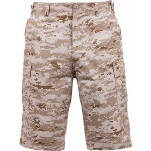 Desert Digital Camouflage Military Long BDU Cargo Shorts