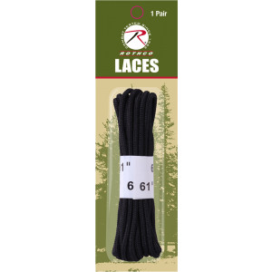 """Black Military Boot Laces 1 pair 61"""""""