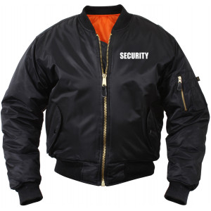 Black Law Enforcement MA-1 Tactical Reversible Security Flight Jacket