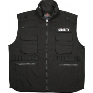 Black Military Security Tactical Law Enforcement Ranger Vest With Hood