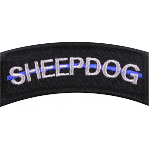 "Sheepdog Thin Blue Line Support The Police Hook & Loop Patch 3""x1.25"""