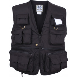 Black Uncle Milty Multi-Pocket Fishing & Travel Vest