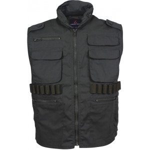 Black Military Tactical Hooded Ranger Vest