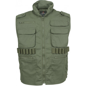 Olive Drab Military Tactical Hooded Ranger Vest