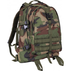 Woodland Camouflage Military MOLLE Large Transport Assault Pack Backpack