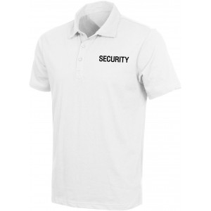 White Cotton Security Double Sided Design Golf Shirt Law Enforcement Apparel