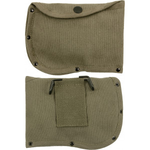"Olive Drab Canvas 6"" Camping Side Axe Sheath with Belt Loop"