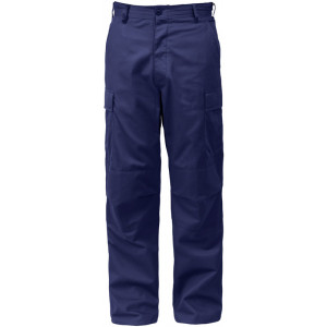 Navy Blue Military Cargo Polyester/Cotton Fatigue BDU Pants