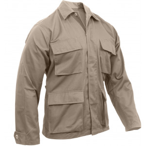 Khaki Military Polyester/Cotton Fatigue BDU Shirt
