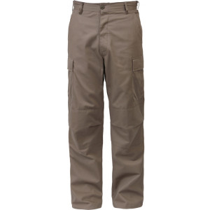 Khaki Military Cargo Polyester/Cotton Fatigue BDU Pants