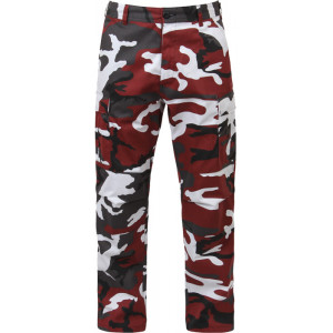 Red Camouflage Military Cargo BDU Fatigue Pants