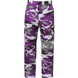 Purple Camouflage Military Cargo BDU Fatigue Pants