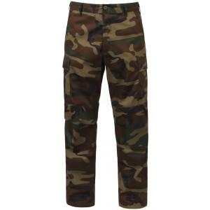 Woodland Camouflage Military Cargo BDU Fatigue Pants