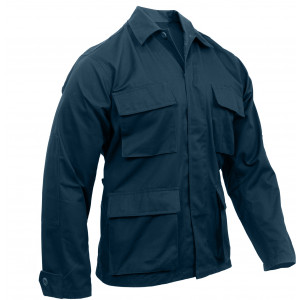 Midnight Blue Military Polyester/Cotton Fatigue BDU Shirt
