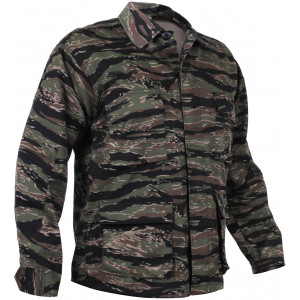Tiger Stripe Camouflage Military BDU Fatigue Shirt