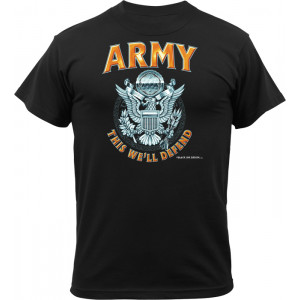 Black Ink Design 'US Army Logo This We'll Defend' T-Shirt