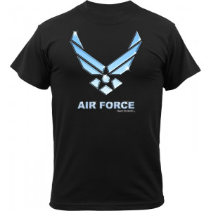 Black Ink Design 'US Air Force Emblem Logo' T-Shirt