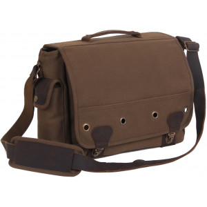 Earth Brown Canvas Trailblazer Laptop Bag