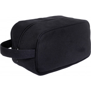 Black Heavy Canvas Travel Kit Toiletry Case
