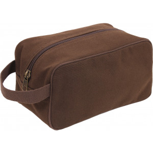 Brown Heavy Canvas Travel Kit Toiletry Case