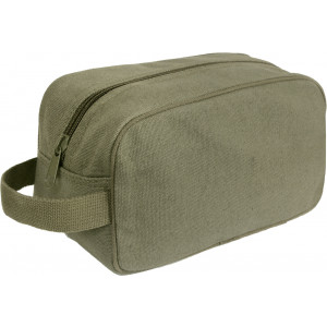 Olive Drab Heavy Canvas Travel Kit Toiletry Case