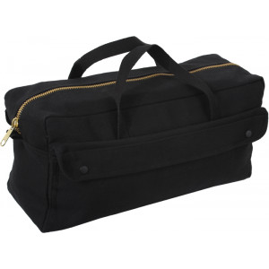Black Mechanics Heavy Duty Jumbo Tool Bag with Brass Zipper