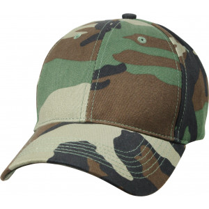 Woodland Camouflage Supreme Military Low Profile Baseball Cap