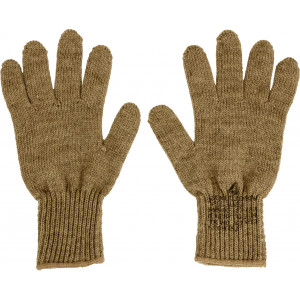 Coyote Brown Military D-3A Wool Glove Liners
