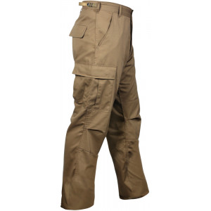 Black Military BDU Cargo Rip-Stop Fatigue Pants
