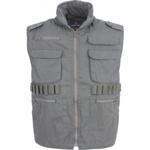 Olive Drab Vintage Military Tactical Hooded Ranger Vest
