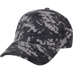 Subdued Urban Digital Camouflage Supreme Low Profile Baseball Cap